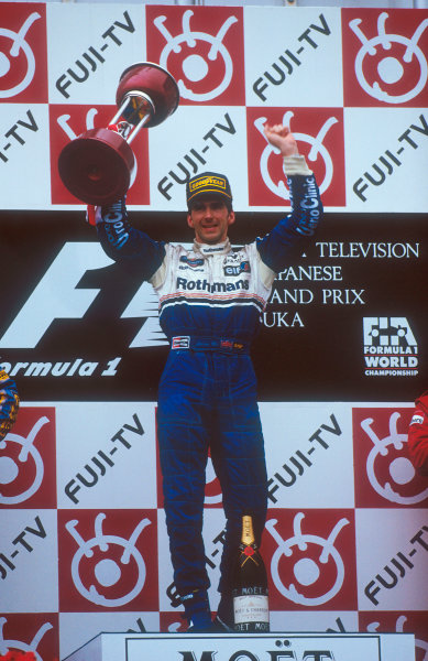 Suzuka, Japan. 4th - 6th November 1994. Damon Hill (Williams Renault) 1st position.Ref-94 JAP 02.World Copyright - LAT Photographic
