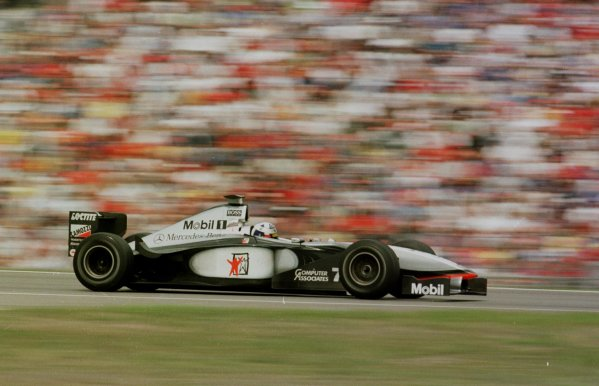 1998 German Grand Prix.Hockenheim, Germany.31/7-2/8 1998.David Coulthard (McLaren MP4/13 Mercedes-Benz) 2nd position.World Copyright - Steve Etherington/LAT Photographic