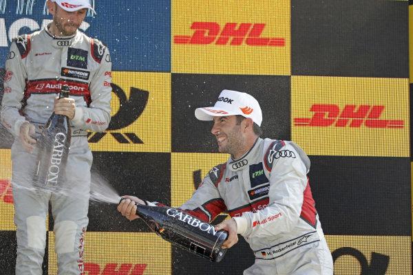 Podium: Mike Rockenfeller, Audi Sport Team Phoenix, René Rast, Audi Sport Team Rosberg.