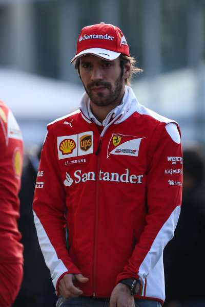 Jean-Eric Vergne (FRA) Ferrari Development Driver at Formula One World Championship, Rd19, Mexican Grand Prix, Qualifying, Circuit Hermanos Rodriguez, Mexico City, Mexico, Saturday 29 October 2016.