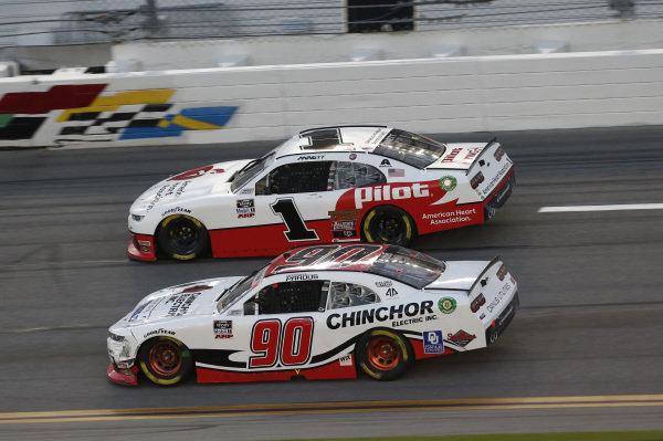 #1: Michael Annett, JR Motorsports, Chevrolet Camaro PFJ American Heart Association, #90: Preston Pardus, DGM Racing, Chevrolet Camaro MAXIM/AP Sports Regimen