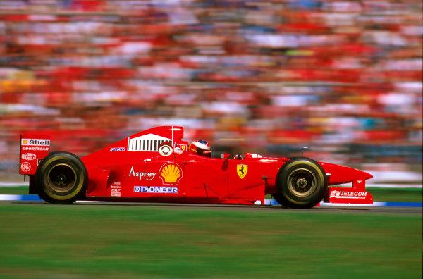 Hockenheim, Germany.25-27 July 1997.Michael Schumacher (Ferrari F310B) 2nd position.Ref-97 GER 13.World Copyright - LAT Photographic