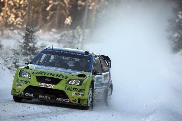 2007 FIA World Rally Championship,Round 2 Swedish Rally 8th-11th February 2007,Mikko Hirvonen, Ford, action.Worldwide Copyright McKlein/LAT.