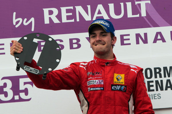 LE CASTELLET (FRA) SEPTEMBER 28-30 2012 - Round seven of the World Series by Renault 2012 at Paul Ricard. Jules Bianchi #8 Tech1 Racing. Podium. © 2012 Sebastiaan Rozendaal / Dutch Photo Agency / LAT Photographic