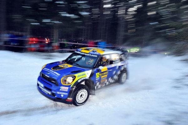 Round 02 - Rally Sweden 09-12 February 2012. Patrik Sandell, Mini WRC, Action  Worldwide Copyright: McKlein/LAT