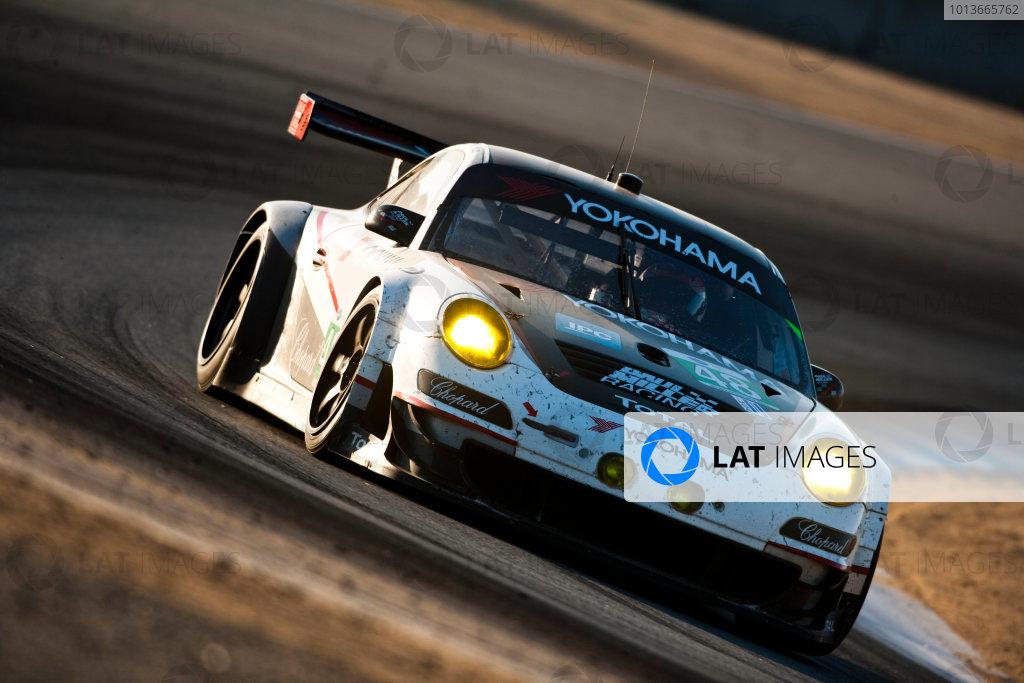 American Le Mans Series. Laguna Seca, Monterey, California. 15th - 17th September 2011. Bryce Miller / Sascha Maassen, BMW Team RLL, BMW E92 M3. Action. Photo: Drew Gibson/LAT Photographic. ref: Digital Image _Y2Z6891