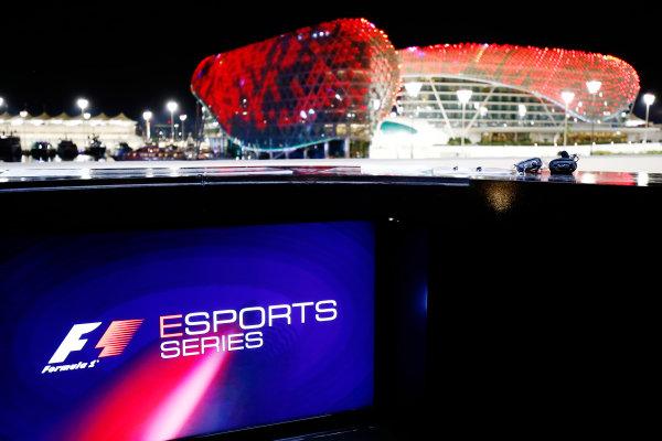 Yas Marina Circuit, Abu Dhabi, United Arab Emirates. Friday 24 November 2017. E-Sports signage. World Copyright: Andrew Hone/LAT Images  ref: Digital Image _ONY0979