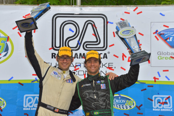 9-11 August, 2013, Elkhart Lake, Wisconsin USA #9 RSR Racing Oreca's Duncan Ende and Bruno Junqueira win LMPC class ©Dan R. Boyd LAT Photo USA