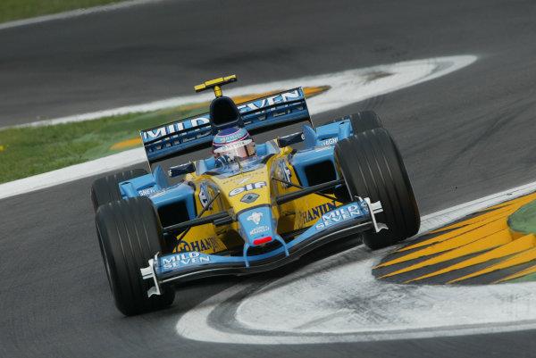 2003 San Marino Grand Prix - Saturday Final Qualifying,Imola, Italy. 19th April 2003 Jarno Trulli, Renault R23, action.World Copyright: Steve Etherington/LAT Photographic ref: Digital Image Only