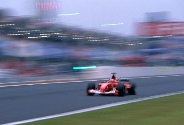 2003 Japanese Grand PrixSuzuka, Japan. 10th - 112th October 2003.Rubens Barrichello, Ferrari F2003 GA, actionWorld Copyright: PICME / LAT Photographic ref: 35mm Image 03JAP03