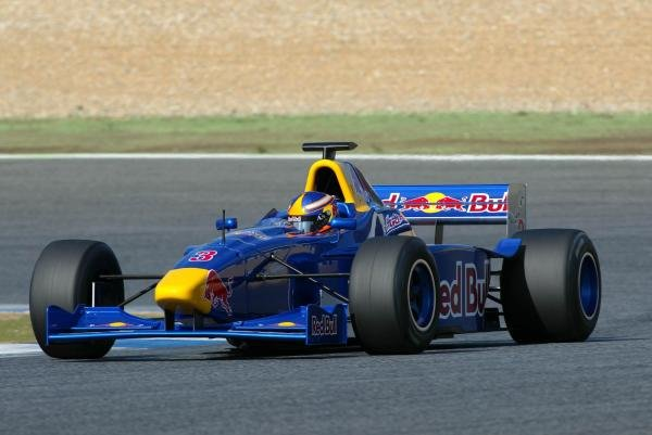Colin Fleming (USA) tests an F3000 car.