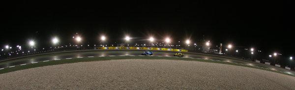 Losail International Circuit, Qatar.Round 1. 9th - 11th April 2010.Loris Capirossi leads Hector Barbera.World Copyright: Martin Heath/LAT Photographicref: Digital Image SE5K6558