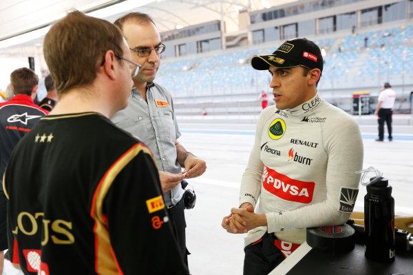 2014 F1 Pre Season Test 2 - Day 4 Bahrain International Circuit, Bahrain. Saturday 22 February 2014. Pastor Maldonado, Lotus F1. World Copyright: Andrew Ferraro/LAT Photographic. ref: Digital Image _79P3752