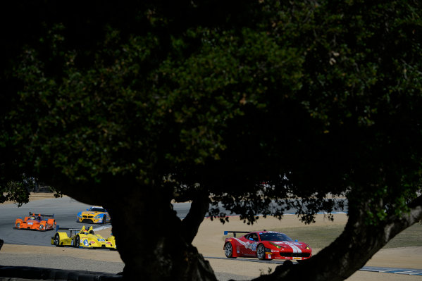 3-4 May, 2014, Monterey, California, USA 64, Ferrari, 458 Italia, GTD, Stefan Johansson, Kyle Marcelli ©2014, Richard Dole LAT Photo USA