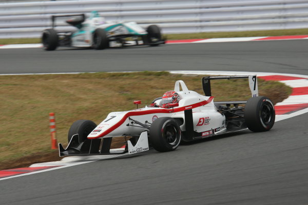 2014 All-Japan F3 Championship. Fuji, Japan. 11th - 12th October 2014. Rd 7. 3rd position Nobuharu Matsushita ( #7 HFDP RACING ) action World Copyright: Yasushi Ishihara / LAT Photographic. Ref:  2014_JF3_Rd14&15__007.JPG