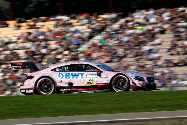 2017 DTM Round 9  Hockenheimring, Germany  Sunday 15 October 2017. Edoardo Mortara, Mercedes-AMG Team HWA, Mercedes-AMG C63 DTM  World Copyright: Alexander Trienitz/LAT Images ref: Digital Image 2017-DTM-HH2-AT3-2402