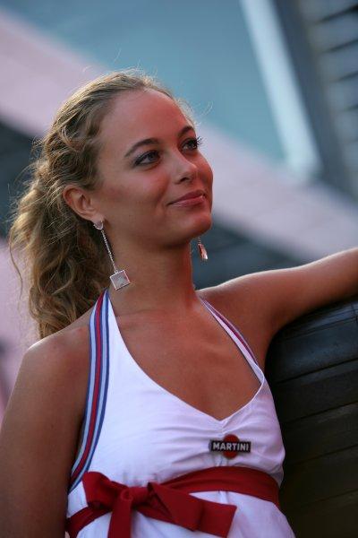 2007 Italian Grand Prix - ThursdayAutodromo di Monza, Monza, Italy.6th September 2007.Martini girls on show in the paddock. Glamour. Atmosphere.World Copyright: Andrew Ferraro/LAT Photographicref: Digital Image VY9E9114