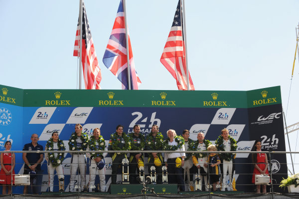 2017 Le Mans 24 Hours Circuit de la Sarthe, Le Mans, France. Sunday 18th  June 2017 GT Pro Podium  World Copyright: JEP/LAT Images
