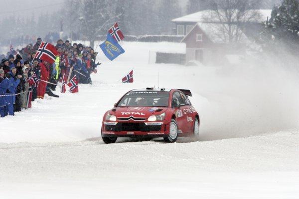 2007 FIA World Rally ChampionshipRound 3Rally of Norway 200715th - 18th February 2007Sebastian Loeb, Citroen, ActionWorldwide Copyright: McKlein/LAT