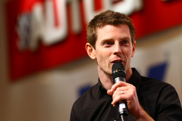 Autosport International Show NEC, Birmingham.  Saturday 12th January 2013. Anthony Davidson on stage. World Copyright:Malcolm Griffiths/LAT Photographic ref: Digital Image F80P9785