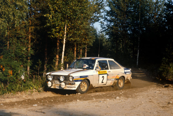 1000 Lakes Rally, Finland. 28-30 August 1981.Ari Vatanen/David Richards (Ford Escort RS1800), 1st position, action.World Copyright: LAT Photographic.Ref: Colour Transparency.