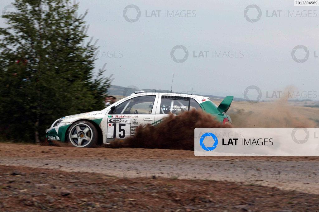 2003 FIA World Rally Champs. Round eight, Deutschland Rally24th-27th July 2003.Toni Gardemeister, Skoda, action. World Copyright: McKlein/LAT