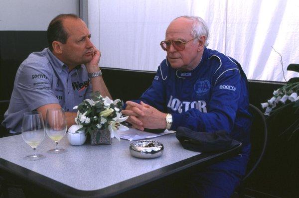 1998 Monaco Grand Prix.Monte Carlo, monaco.21-24 May 1998.FIA Medical Delegate Professor Sydney Watkins with Ron Dennis.World Copyright - LAT Photographic