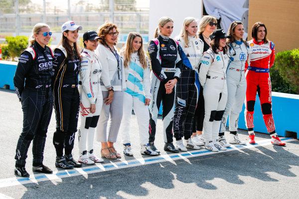 Driver line up for the test in Ad Diriyah with Pippa Mann (GBR), GEOX Dragon, Tatiana Calderon (COL), DS TECHEETAH, Amna Al Qubaisi (UAE), Envision Virgin Racing, Carrie Schreiner (DUE), HWA Racelab, Carmen Jorda (ESP),Nissan e.Dams, Beitske Visser (NLD), BMW I Andretti Motorsports, Jamie Chadwick (GBR), NIO Formula E Team, Simona de Silvestro (CHE), Venturi Formula E and Katherine Legge (GBR), Mahindra Racing