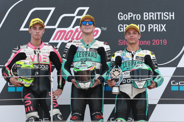 Podium: race winner Marcos Ramirez, Leopard Racing, second place Tony Arbolino, Team O, third place Lorenzo Dalla Porta, Leopard Racing