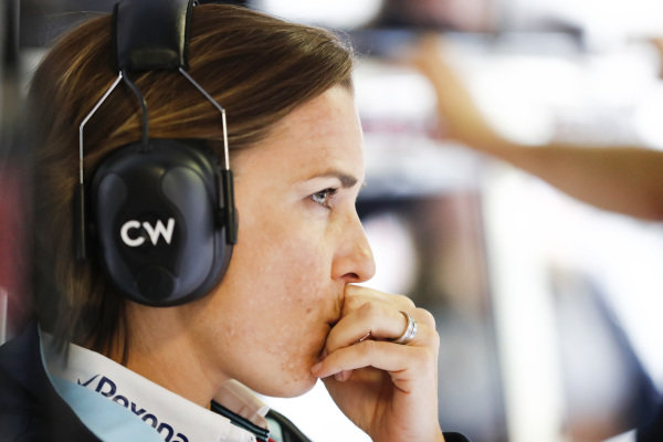 Claire Williams, Deputy Team Principal, Williams Martini Racing.