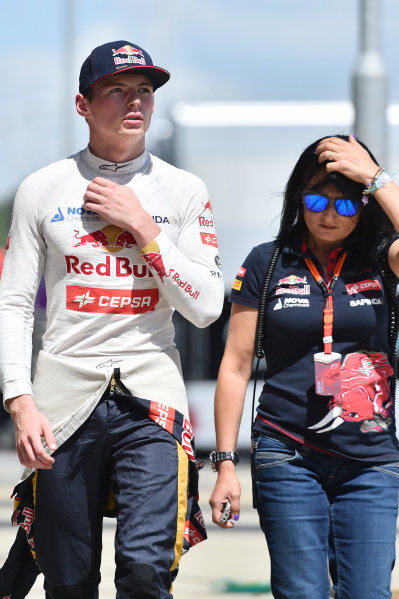 Max Verstappen (NED) Scuderia Toro Rosso at Formula One World Championship, Rd9, British Grand Prix, Qualifying, Silverstone, England, Saturday 4 July 2015.