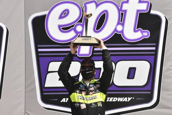 #88: Matt Crafton, ThorSport Racing, Menards Ford F-150 celebrates his win