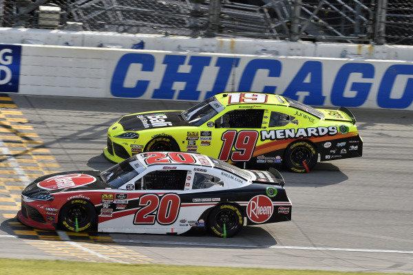 #20: Christopher Bell, Joe Gibbs Racing, Toyota Supra Rheem and #19: Brandon Jones, Joe Gibbs Racing, Toyota Supra Menards