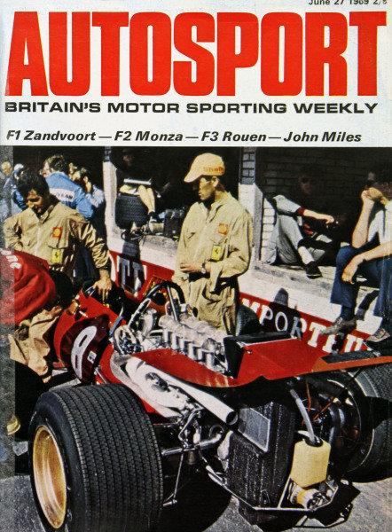 Cover of Autosport magazine, 27th June 1969