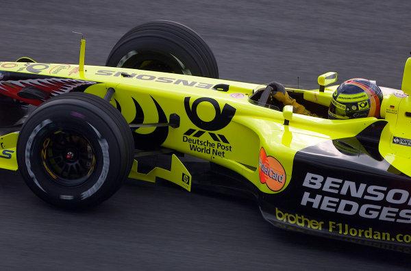 2001 Malaysian Grand Prix.Sepang, Kuala Lumpur, Malaysia. 16-18 March 2001.Heinz-Harald Frentzen (Jordan EJ11 Honda) 4th position.World Copyright - Steve Etherington/LAT Photographic.ref: 18mb Digital Image