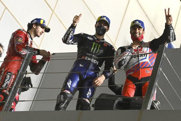 Francesco Bagnaia, Ducati Team, Maverick Vinales, Yamaha Factory Racing, Johann Zarco, Pramac Racing