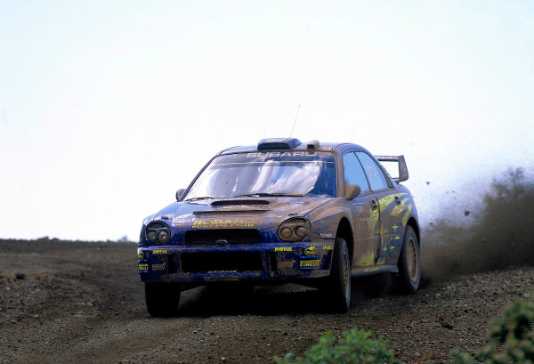 World Rally ChampionshipCyprus Rally, Cyprus. 18th - 21st April 2002. Tommi Makinen / Kaj Lindstrom, Subaru Impreza WRC, 3rd position overall.World Copyright: McKlein/LAT Photographicref: 35mm Image A03