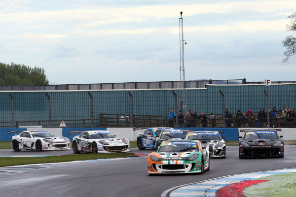 2017 Ginetta GT4 Supercup, Donington Park, 15th-16th April 2017 Reece Somerfield Ginetta G55 World copyright. JEP/LAT Images