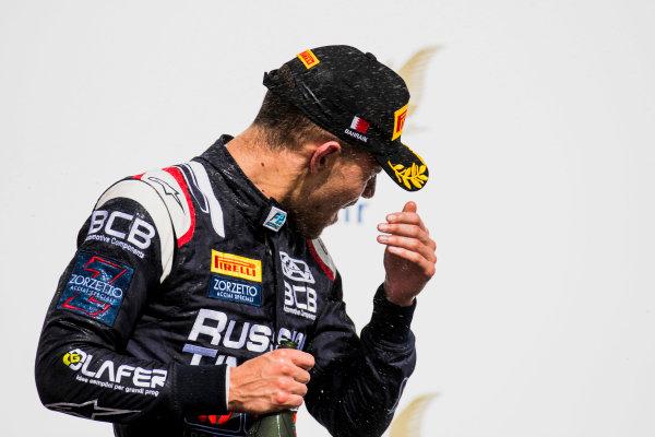 2017 FIA Formula 2 Round 1. Bahrain International Circuit, Sakhir, Bahrain.  Sunday 16 April 2017. Luca Ghiotto (ITA, RUSSIAN TIME)  Photo: Zak Mauger/FIA Formula 2. ref: Digital Image _56I2160