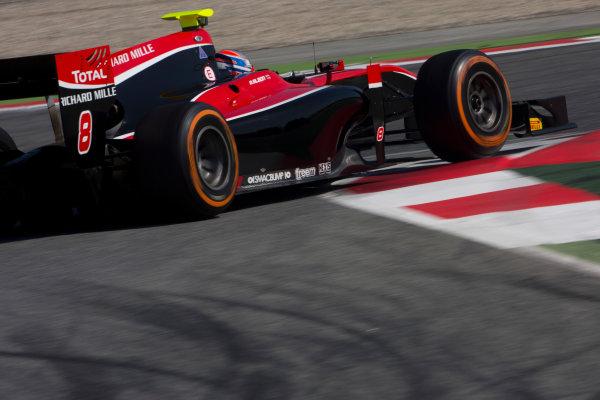 Circuit de Barcelona Catalunya, Barcelona, Spain. Tuesday 14 March 2017. Alexander Albon (THA, ART Grand Prix). Action.  Photo: Alastair Staley/FIA Formula 2 ref: Digital Image 585A8342