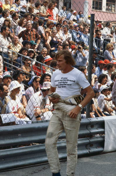 Monte Carlo, Monaco. 24th - 27th May 1979. James Hunt (Wolf WR7-Cosworth), retired, portrait. World Copyright: LAT Photographic.  Ref:  79 MON 40.