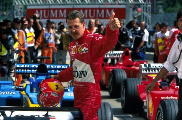 Michael Schumacher (GER) Ferrari completely dominated the eventSan Marino Grand Prix, Imola, Italy, 14  April 2002BEST IMAGE
