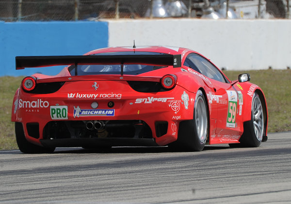 14-19 March 2011. Sebring, Florida USA#59 Luxury Racing Ferrari F458 Italia©2011 Dan R. Boyd LAT Photo USA