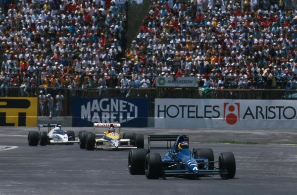 3rd place Michele Alboreto (ITA) Tyrrell 018 Mexican GP, Mexico City, 28 May 1989