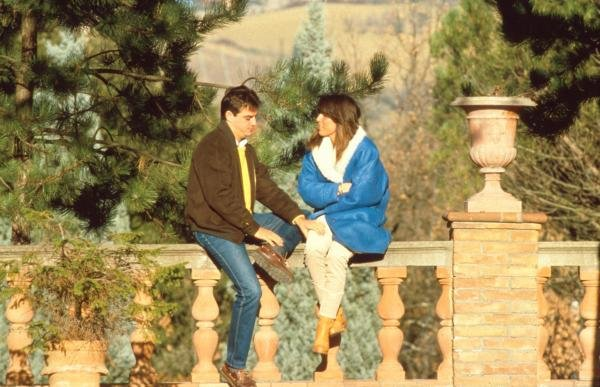Alesandro Nannani at home with his wife PaolaFormula One Drivers At Home.