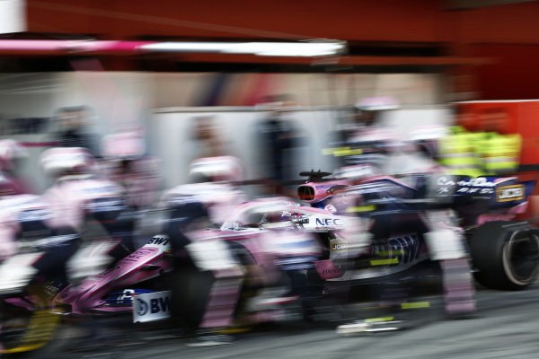 Sergio Perez, SportPesa Racing Point F1 Team RP19 pit stop