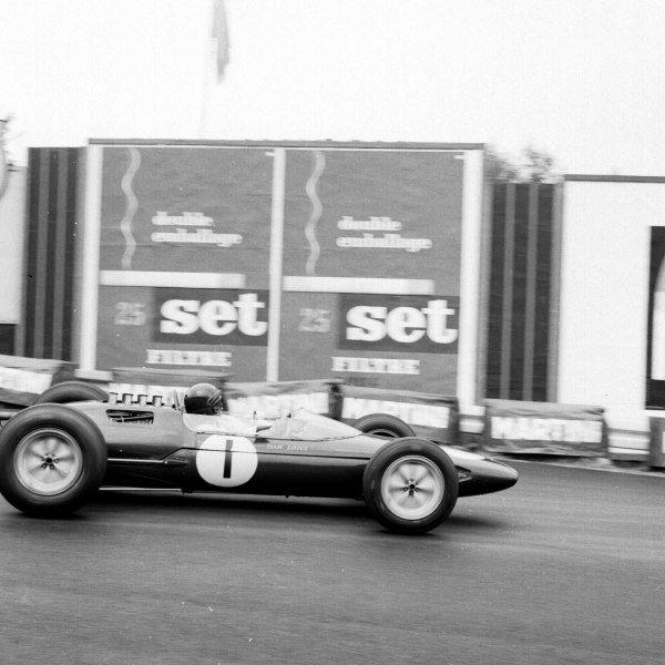 1963 Belgian Grand Prix.Spa-Francorchamps, Belgium.7-9 June 1963.Jim Clark (Lotus 25 Climax) 1st position.Ref-19260.World Copyright - LAT Photographic