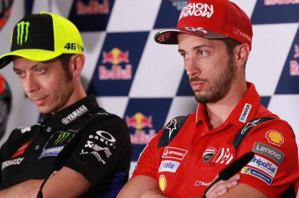 Valentino Rossi, Yamaha Factory Racing, Andrea Dovizioso, Ducati Team.
