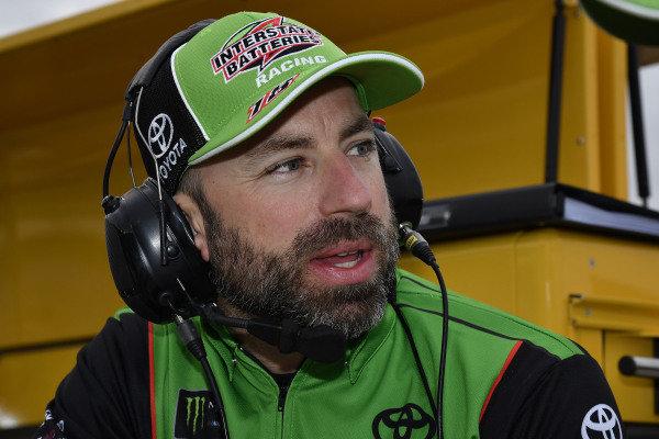 #18: Kyle Busch, Joe Gibbs Racing, Toyota Camry Interstate Batteries Adam Stevens
