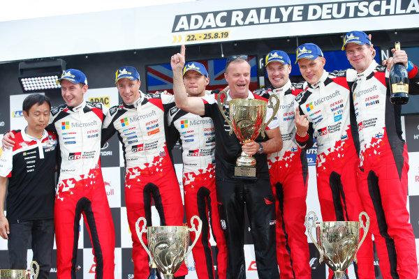 Tommi Makinen (FIN), Ott Tänak (EST), Jari-Matti Latvala (FIN), Kris Meeke (GB) Toyota Gazoo Racing WRT, Toyota Yaris WRC 2019,